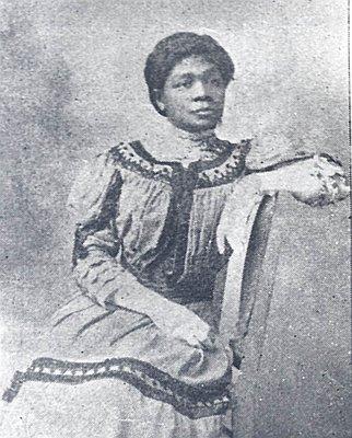 """A black and white photo of suffragist and activist Harriet """"Hattie"""" Redmond"""